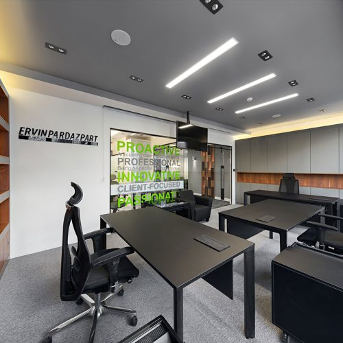 Design and implementation of the office of Novin pardazpart trading company